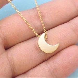Jewelry - moon gold necklace